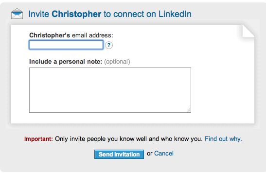 LinkedIn Invitation Filtering